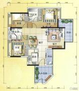 元邦明月水岸3室2厅2卫119平方米户型图