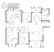 光谷188国际社区4室2厅2卫140平方米户型图