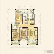 禹洲天境3室2厅2卫129平方米户型图
