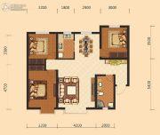 伊水湾3室2厅1卫118平方米户型图