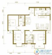 北京新天地3室2厅2卫123平方米户型图