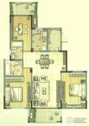 九洲花园缇香郡3室2厅1卫118平方米户型图