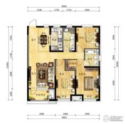 中海国际社区3室2厅2卫119平方米户型图