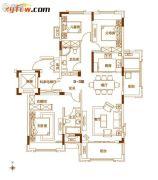 南湾・琨御府3室2厅2卫125平方米户型图