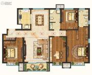 未来花郡4室2厅2卫138平方米户型图