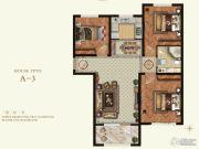 K2京西狮子城3室2厅1卫88平方米户型图