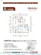 幸福家园・�h珑湖3室2厅2卫106--107平方米户型图