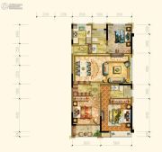 黄岩中梁香缇公馆3室2厅2卫118平方米户型图