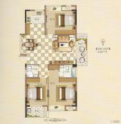 霞浦安大名城3室2厅2卫115平方米户型图