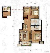 万科竹径云山二期3室2厅1卫90平方米户型图