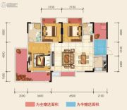 朗润国际广场3室2厅2卫104平方米户型图