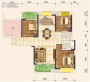 花样年花样城二期4室2厅2卫104平方米户型图