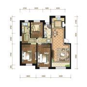 苏宁绿谷庄园3室2厅2卫130--134平方米户型图