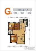 联发・香水湾3室2厅1卫107平方米户型图