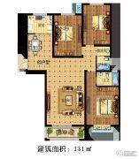 林溪湾3室2厅2卫131平方米户型图