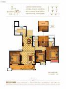奥克斯缔壹城颐�Z园4室2厅2卫137平方米户型图