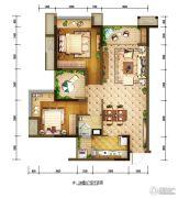 重庆巴南万达广场2室2厅1卫85平方米户型图