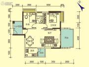 宝麒花园2室2厅1卫0平方米户型图