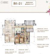 绿城・留香园2室2厅2卫93平方米户型图