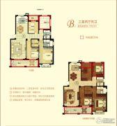 金桥花园3室2厅2卫118平方米户型图