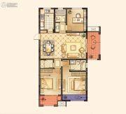 红豆香江豪庭3室2厅2卫124平方米户型图