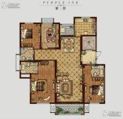 �|方米兰国际城4室2厅3卫175平方米户型图