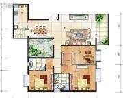 松润・书苑新城3室2厅2卫0平方米户型图