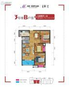 美联联邦生活区二期城仕3室2厅1卫92--93平方米户型图