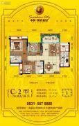 中科・阳光新城3室2厅2卫95--113平方米户型图