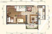 信和御龙山2室1厅1卫83平方米户型图