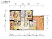 东岭国际城2室1厅1卫0平方米户型图
