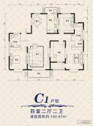 文兴水尚4室2厅2卫192平方米户型图