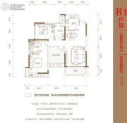 辉煌国际城二期3室2厅2卫102平方米户型图