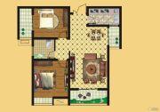 壹号公园2室2厅1卫89平方米户型图