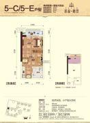 彰泰峰誉1室1厅1卫42平方米户型图