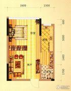 未来城11号1室1厅1卫41平方米户型图