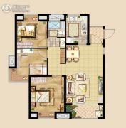 中洲里程3室2厅1卫92平方米户型图