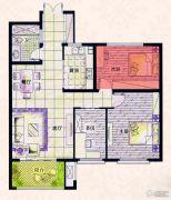 易居公馆3室2厅1卫85--88平方米户型图