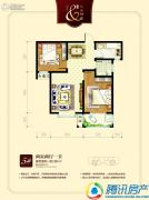 九乐倾城2室2厅1卫82平方米户型图
