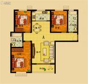 濮上名家3室2厅2卫129平方米户型图