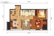 华远国际公寓2室2厅1卫120--125平方米户型图