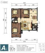 金山九泷湾3室2厅2卫120平方米户型图