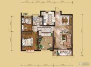 山水华庭2室2厅1卫94平方米户型图