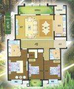 龙仕公园里3室2厅2卫180平方米户型图