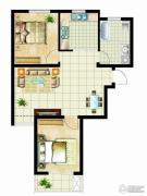 金桥澎湖山庄2室2厅1卫81平方米户型图