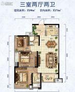 新中美・帝景湾3室2厅2卫0平方米户型图