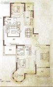 万泰麓溪公馆3室2厅2卫154平方米户型图