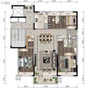 信达万科城4室2厅2卫142平方米户型图