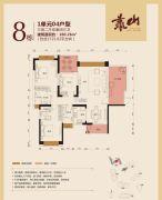 公园豪宅・靠山3室2厅3卫160平方米户型图