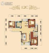 宏维・星都3室2厅2卫0平方米户型图